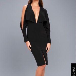 Elegant Eternity Backless Midi Dress